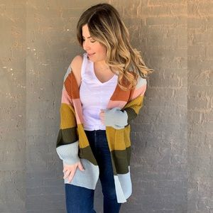 Sweaters - Free Spirit Striped Cardi
